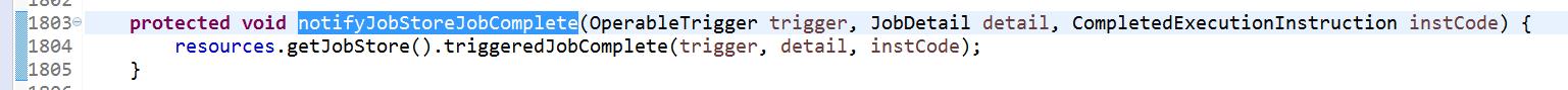 QuartzScheduler.notifyJobStoreJobComplete